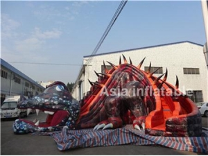 Giant Inflatable Saurian Slide
