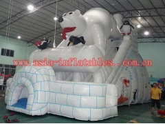 Polar Bear Inflatable Slide
