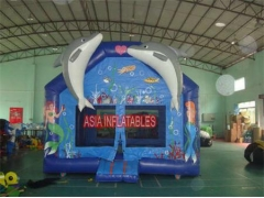 Printing Inflatable Dolphin Bouncer
