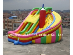 Vortical Inflatable Slide