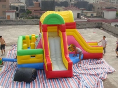 Dual Lane Bounce Slide Inflatable Combo