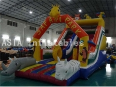 Safari Park Inflatable Slide