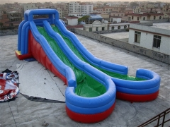 Dual Lane Inflatable Wave Water Slide