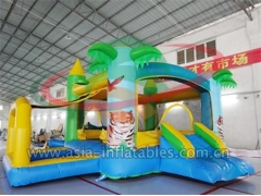 Party Bouncer Inflatable Palm Tree Bouncer With Ball Pool