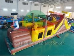 Giant Inflatable Obstacles Inflatable Pirate Obstacle Course Games For Party