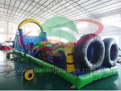 New Arrival Outdoor Sport Games Inflatable Palm Tree Obstacle For Adult
