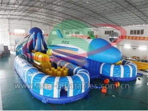 New Design Outdoor Adult Inflatable Air Plane Playground Obstacle Course For Sale With Wholesale Price