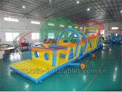 New Arrival Giant Playground Outdoor Inflatable Obstacle Course For Adults