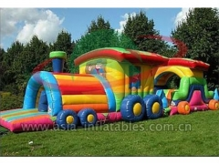 Giant Inflatable Obstacles Outdoor Obstacle Course Tunnel For Challenge