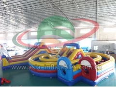 Military Inflatable Obstacle Inflatable Children Park Amusement Obstacle Course
