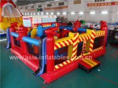 Exciting Fun Inflatable Fire Truck Bouncer Playground in Factory Price