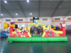 New Design Inflatable Mickey Park Learning Club Bouncer House With Wholesale Price