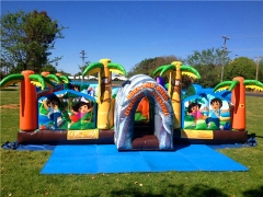 inflatable adventure park