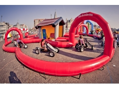Inflatable Go karts Race Track
