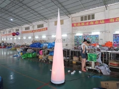 Perfect Design 2.5mH Inflatable Lighting Cone in Factory Price