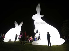 Perfect Design Inflatable Rabbit With Lighting for Holiday Decoration in Factory Price