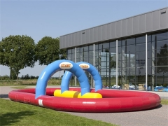 Exciting Fun Inflatable Racing Track ,Go Karts Track,Inflatable Race Track Game in Factory Price