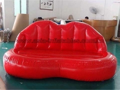 Perfect Design Custom Inflatable Red Lip Mouth Shape Sofa for Party in Factory Price