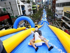 Long Water Slide On Street