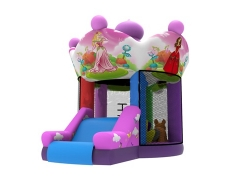 Inflatable Pink Mini Bouncer Castle with Slide in stock and factory price