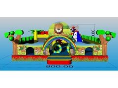 New Design Commercial Jungle Inflatable Fun City Airpark Outdoor Fun City Supplier With Wholesale Price