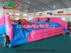 Inflatable obstacle wipeout challenge game