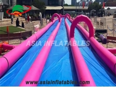 Pink 3 Lane 1000ft The City Slip N Slide