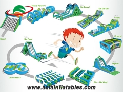 Inflatable 5k Obstacle Course For Children And Adult