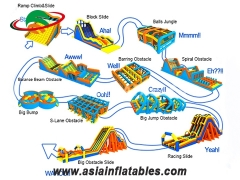 New Arrival Inflatable 5k Obstacle Run Race for Big Event