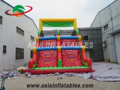 Inflatable Obstacle Course With Slides