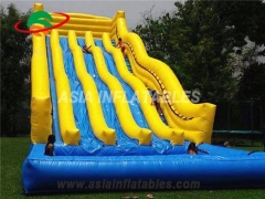 water park use Giant inflatable slide with pool
