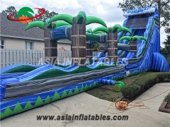 tropical palm tree inflatable water slide