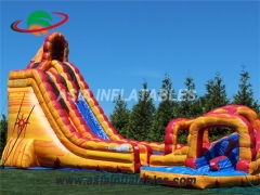 commercial twist inflatable lava water slide for sale