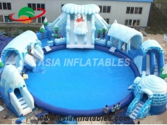 New Designs Ice World Inflatable Polar Bear Water Park With Factory Price