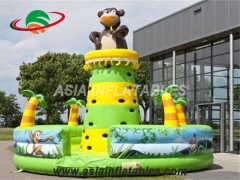 Bear Theme Inflatable Climbing Tower Inflatable Bouncy Climbing Wall For Sale & Interactive Sports Games