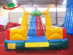 Exciting Fun Lovely Animal Theme Outdoor Rock Inflatable Climbing Wall For Kids in Factory Price