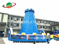 Blue Top Climbing Wall  Inflatable Climbing Tower For Sale & Interactive Sports Games