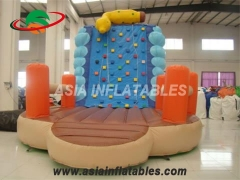 Exciting Fun Exciting Inflatable Climbing Wall And Slide Big Blow Up Rock Climbing Wall in Factory Price