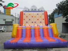 Tarpaulin PVC Resistance Inflatable Climbing Wall For Sale & Interactive Sports Games