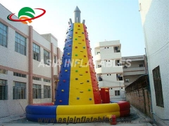 Large Inflatable Climbing Wall, Used Rock Climbing Wall For Outdoor Sports & Interactive Sports Games