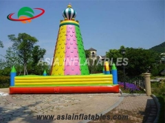 Exciting Fun Colorful Kids Games Climbing Wall Inflatable Rock Climbing Mountain For Sale in Factory Price