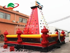 Exciting Fun Funny Wall Climbing Inflatable Rock Climbing Wall For Kids in Factory Price