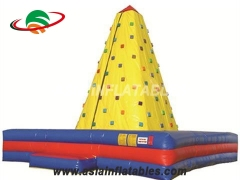 Exciting Fun Challenge Rock Climbing Wall Inflatable Sticky Mountain Climbing For Sale in Factory Price
