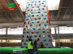 Exciting Fun Hot Sale Sport Games Climbing Wall Inflatable Rock Climbing Mountains in Factory Price