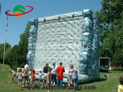 High Safety Rock Inflatable Mountain Climbing Wall Sports Games For Sale & Interactive Sports Games