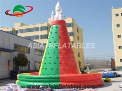 Exciting Fun Commercial Kids Inflatable Rock Climbing Wall With Fireproof PVC Tarpaulin in Factory Price