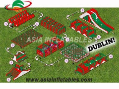 New Arrival Adults Insane Inflatable 5k obstacle course run for sport game