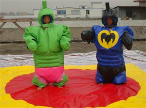 Hulk, Bat and Super Hero Sumo Suits
